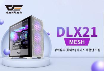 darkFlash DLX21 RGB MESH 강화유리 (화이트) 케이스 체험단