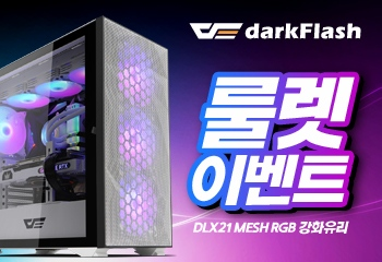 darkFlash DLX21 RGB MESH 강화유리 (블랙) 룰렛!