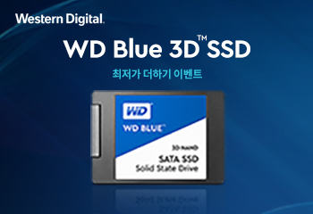 Western Digital WD Blue 3D SSD 최저가 더하기 이벤트!