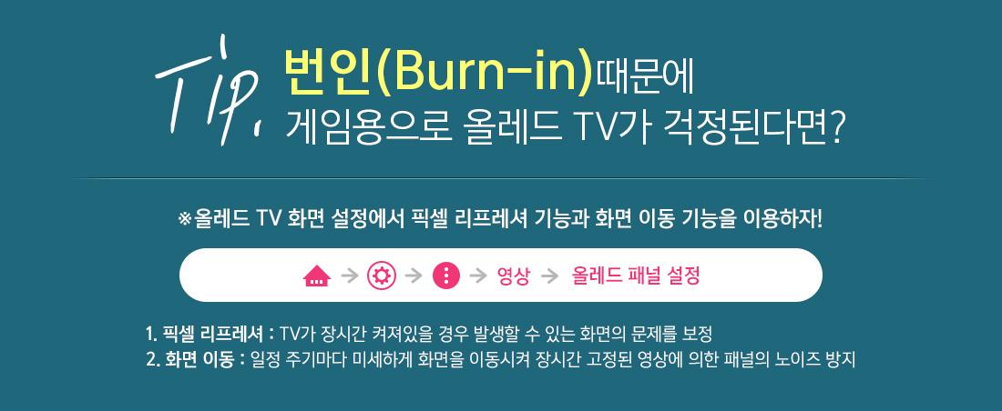Tip. 번인(Burn-in)때문에 게임용으로 올레드 TV가 걱정된다면?