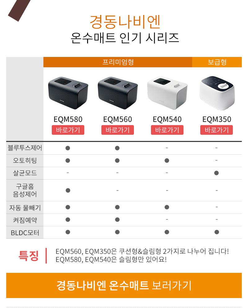 경동나비엔 온수매트 인기 시리즈