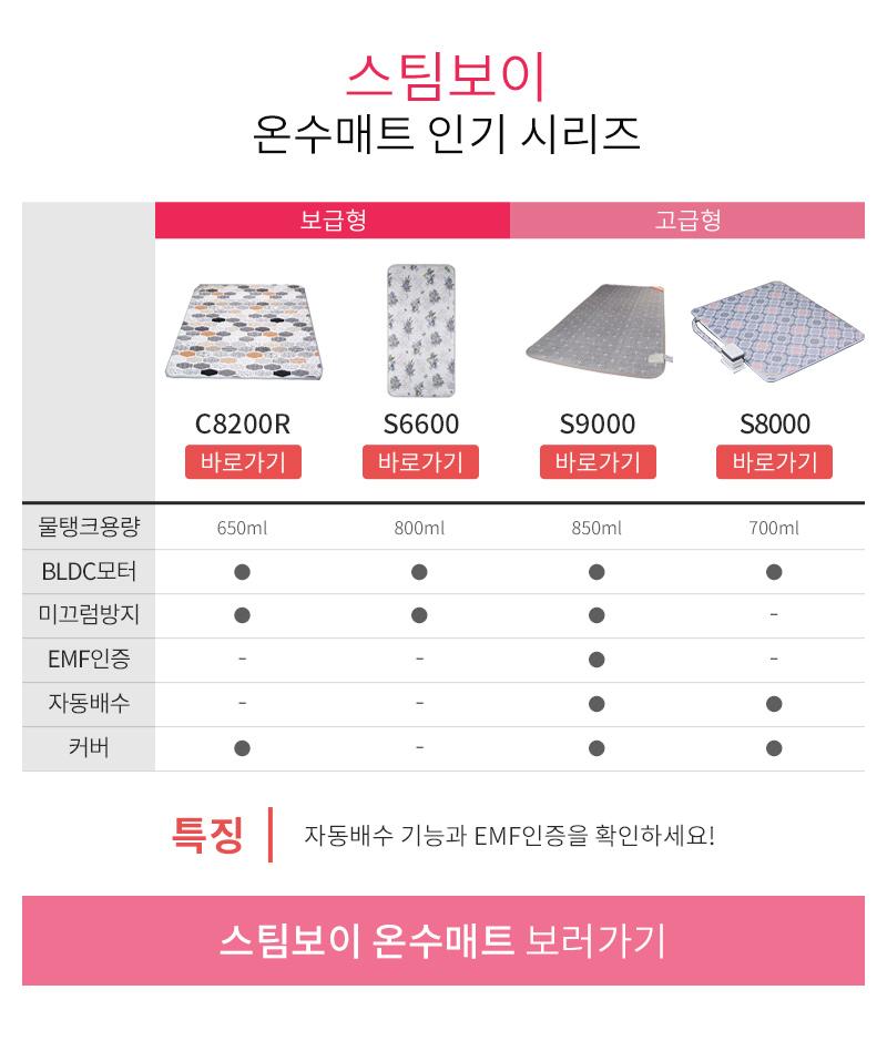 스팀보이 온수매트 인기 시리즈