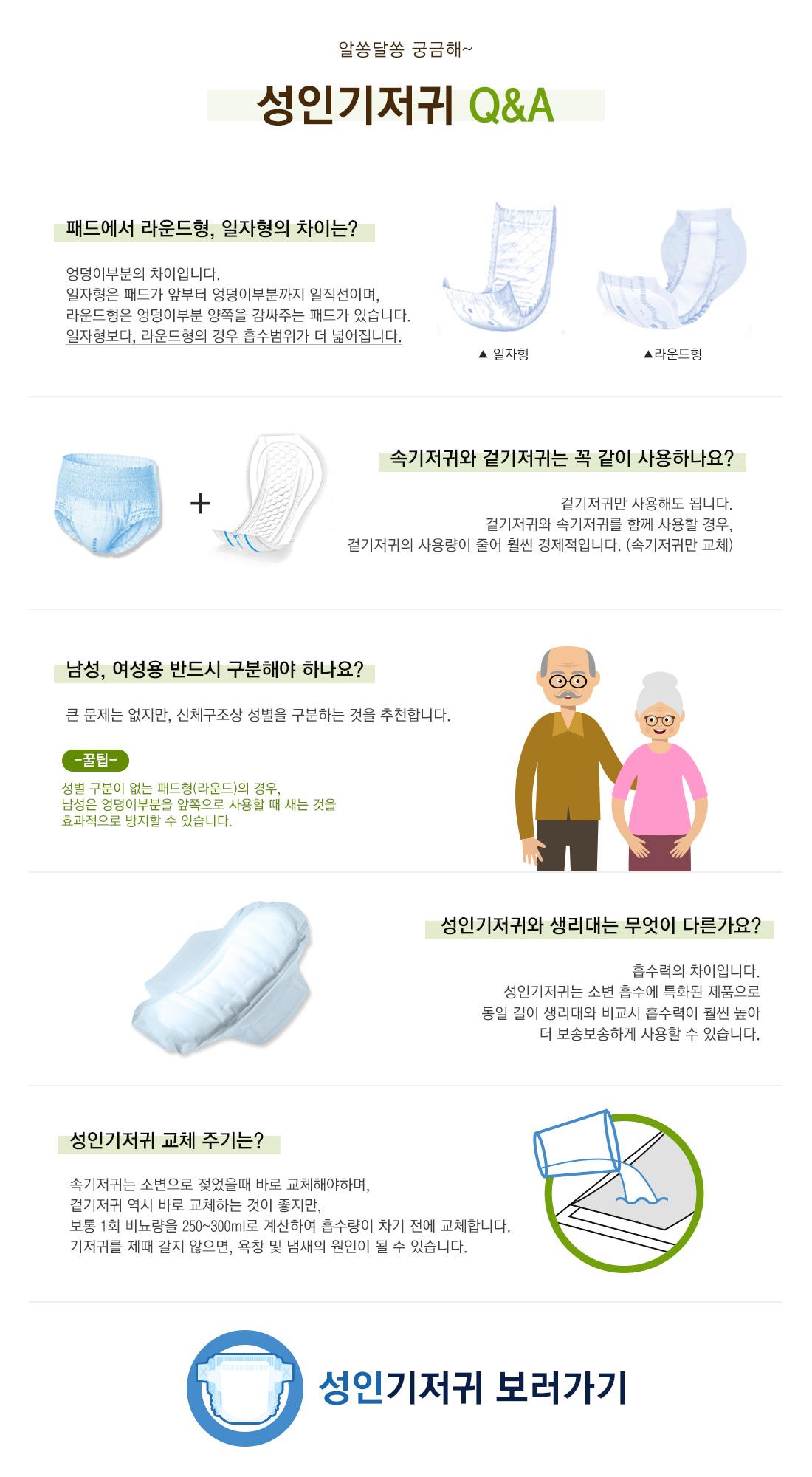 알쏭달쏭 궁금해~ 성인기저귀 Q&A