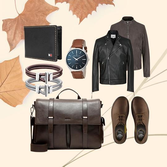 가을과 어울리는 가죽 컬렉션.
