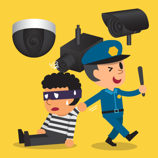 모두를 속이는  모형 CCTV 기획전