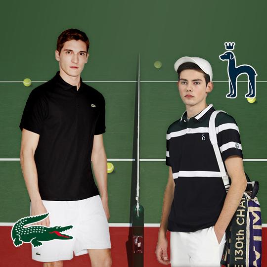 테니스 스타 룩 VS 윔블던 스타일