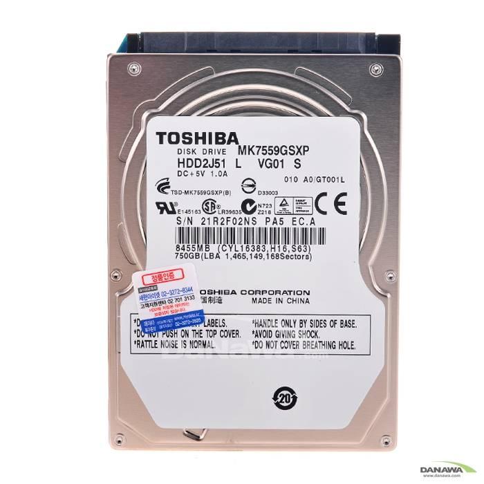 Toshiba  750GB MK7559GSXP (SATA2/5400/8M/��Ʈ�Ͽ�)_�̹���