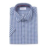 클리포드 카운테스마라 레귤러버튼다운 블루 체크 반소매 셔츠 BPCDCQ2C2253B0_이미지
