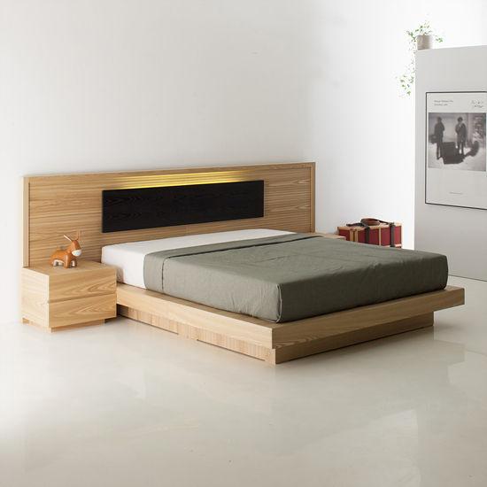 이젠하우스 필네이처 툴라 LED 와이드 1700 침대 (퀸/킹, 매트별도 ...