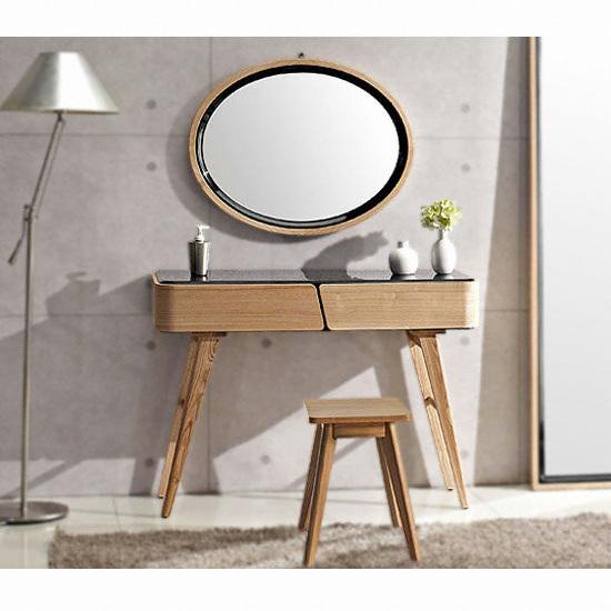 디자인크럽 룬드 블랙 화장대세트 (화장대+거울+의자) 종합정보 ...