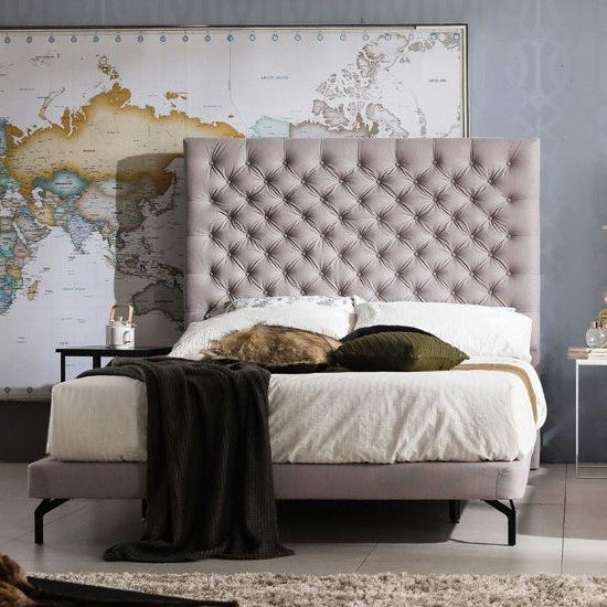 웨스트프롬 럭셔리 그레이스 그레이 패브릭 TWO 매트리스 침대 퀸 (Q) (W3)_이미지