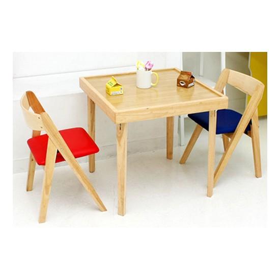 지퍼니처 원목 키즈 접이식테이블 의자세트 종합정보 행복 ...