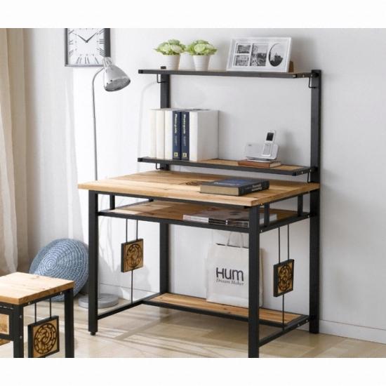 현대디자인가구 우아미가구 다죤 삼나무 책상+선반 (90x60cm) 종합 ...