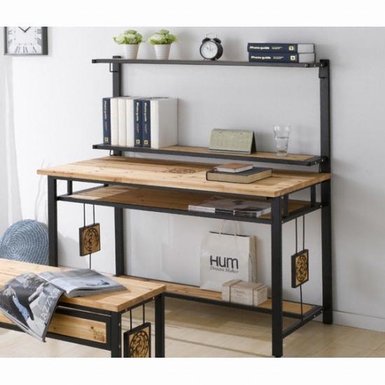 현대디자인가구 우아미가구 다죤 삼나무 책상+선반 (120x60cm) 종합 ...