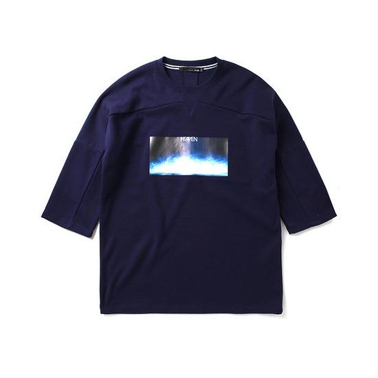 지엔코 엘록 남성 루즈핏 그래픽 7부 티셔츠 E162MTS125M_이미지