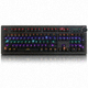 ABKO  K670 이중사출 키캡 레인보우 LED 볼륨 다이얼 게이밍 기계식 (청축)_이미지_1