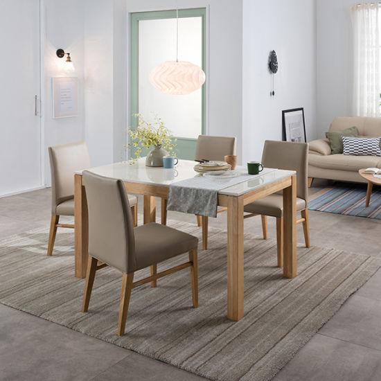 현대리바트 리바트이즈마인 빈센트 대리석 식탁세트 4인용 (의자 ...
