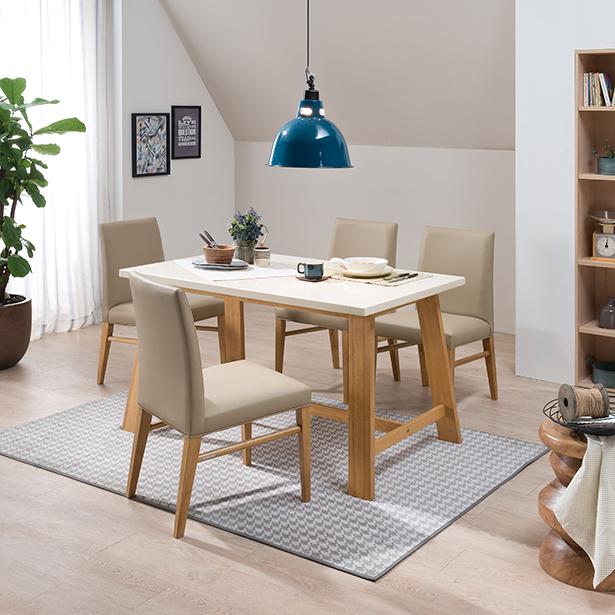 현대리바트 리바트이즈마인 세비야 대리석 식탁세트 4인용 (의자 ...