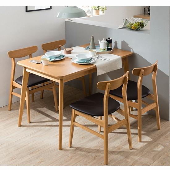 현대리바트 리바트이즈마인 타코 식탁세트 4인용 (의자4개) 종합 ...