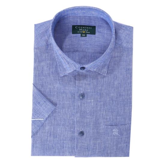 클리포드 카운테스마라 마 혼방 스냅카라 일반핏 반소매 셔츠 CDCQ2C2212B0_이미지