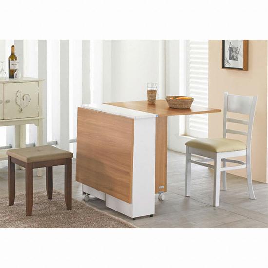 동서가구 NEW트랜스포머 접이식수납테이블 식탁세트 (의자2개 ...