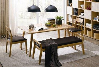 현대리바트 리바트이즈마인 카페테리아 6인 식탁세트 벤치+의자4 ...