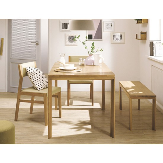 현대리바트 리바트이즈마인 빌리지 식탁세트 (벤차+의자2개 ...
