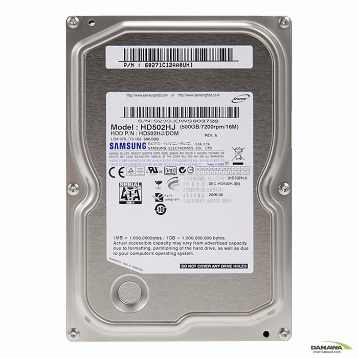 �Z����  500GB Spinpoint F3 HD502HJ (SATA2/7200/16M/��ǰ)_�̹���