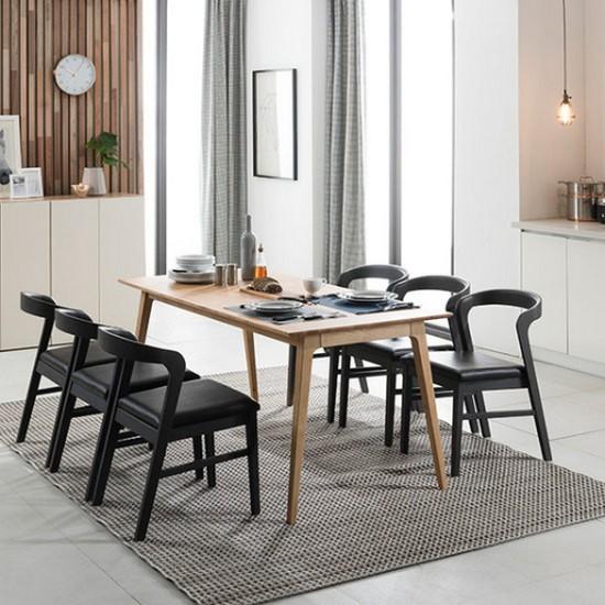 현대리바트 리바트이즈마인 보르도 식탁세트 6인용 (의자6개 ...
