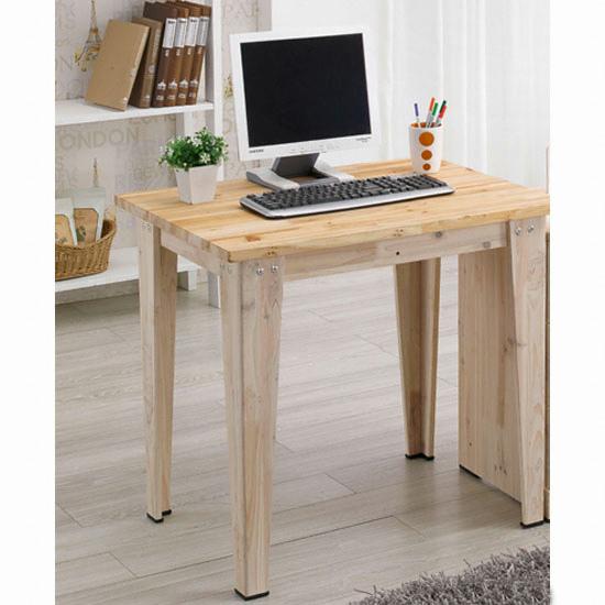 현대디자인가구 우아미가구 심플 삼나무 원목책상 (80x60cm) 종합 ...