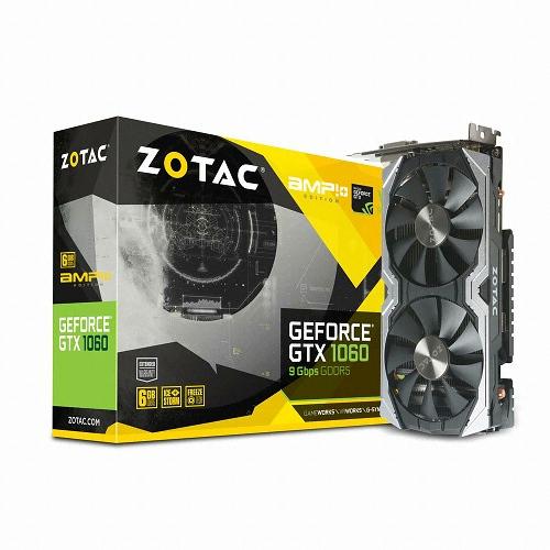 ZOTAC AMP 지포스 GTX1060 D5 6GB 백플레이트 PLUS_이미지