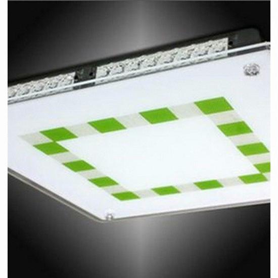 비스코 LED면조명 50W 그린패턴 거실.방등(옆면아크릴장식 ...
